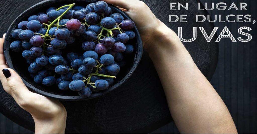 En lugar de dulces uvas